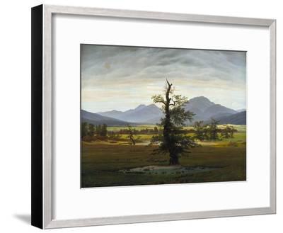 Solitary Tree (Village Landscape in Morning Light), 1822-Caspar David Friedrich-Framed Giclee Print