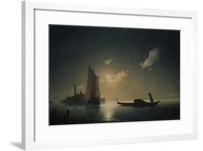 A Gondolier in Venice at Night, 1843-Ivan Konstantinovich Aivazovsky-Framed Giclee Print