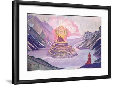 Nagarjuna Conqueror of the Serpent, 1925-Nicholas Roerich-Framed Giclee Print