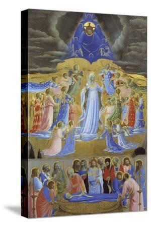Death and Assumption of the Virgin, Ca 1432-Fra Angelico-Stretched Canvas Print