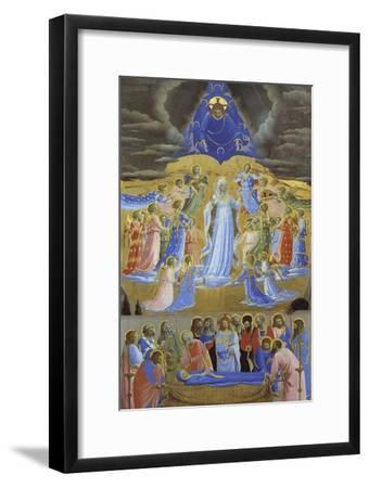 Death and Assumption of the Virgin, Ca 1432-Fra Angelico-Framed Giclee Print