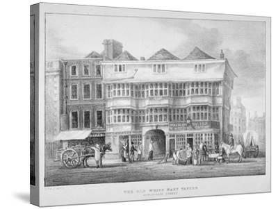 The White Hart Inn, Bishopsgate, City of London, 1825--Stretched Canvas Print