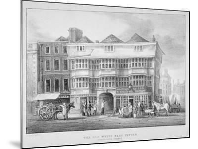 The White Hart Inn, Bishopsgate, City of London, 1825--Mounted Giclee Print
