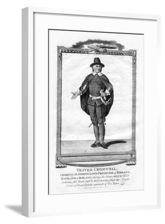 Oliver Cromwell, English Military Leader and Politician, 1706--Framed Giclee Print