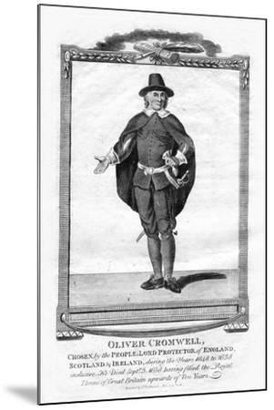 Oliver Cromwell, English Military Leader and Politician, 1706--Mounted Giclee Print