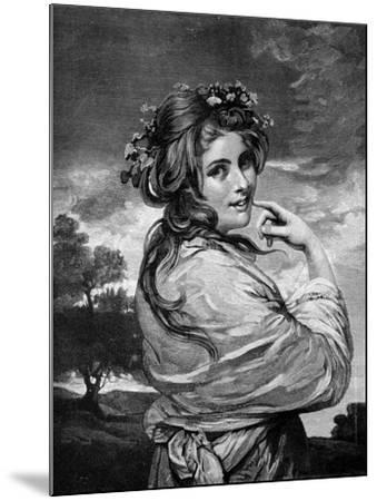 Lady Hamilton as 'Nature', C1783-1784-Joshua Reynolds-Mounted Giclee Print