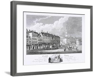 Cornhill, London, 1810--Framed Giclee Print