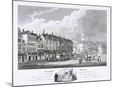Cornhill, London, 1810--Mounted Giclee Print