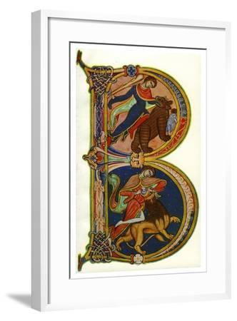 Initial B, Bible, Winchester, C1160-1170--Framed Giclee Print