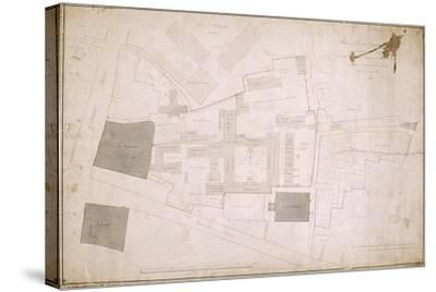 Plan of Christ's Hospital, Newgate Street, London and its Adjoining Estate, 1819--Stretched Canvas Print