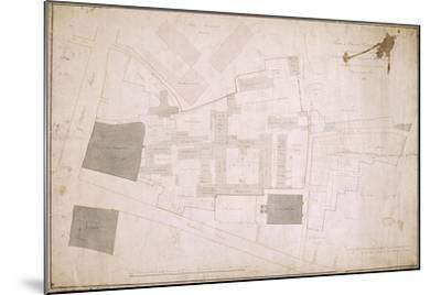 Plan of Christ's Hospital, Newgate Street, London and its Adjoining Estate, 1819--Mounted Giclee Print