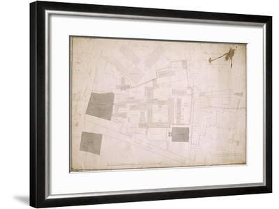 Plan of Christ's Hospital, Newgate Street, London and its Adjoining Estate, 1819--Framed Giclee Print