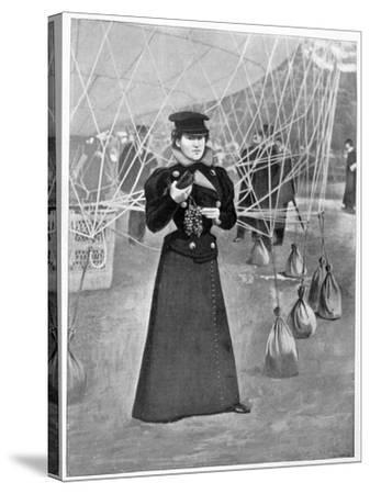 The Aero Club, Costume of a Female Ballooner, 15th November 1898--Stretched Canvas Print