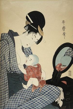 Mother and Child, 1797-Kitagawa Utamaro-Framed Giclee Print