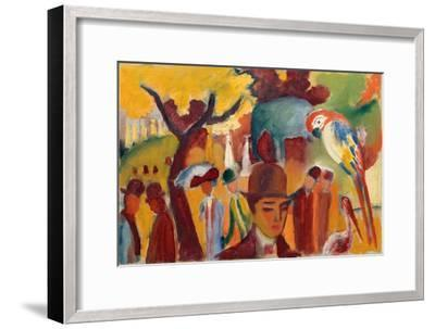 Small Zoological Garden in Brown and Yellow, 1912-August Macke-Framed Giclee Print