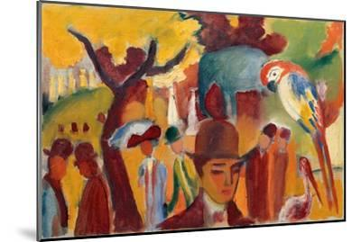 Small Zoological Garden in Brown and Yellow, 1912-August Macke-Mounted Giclee Print