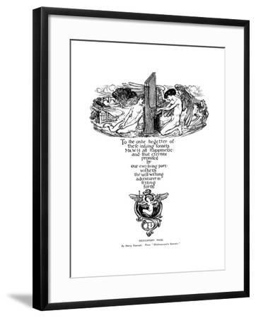 Dedicatory Page from Shakespeare's Sonnets, 1899-Henry Ospovat-Framed Giclee Print