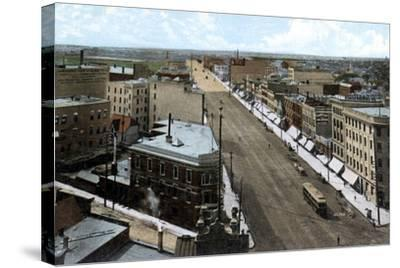 Looking North Along Main Street, Winnipeg. Manitoba, Canada, C1900s--Stretched Canvas Print