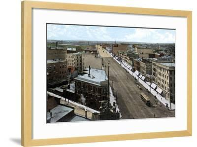 Looking North Along Main Street, Winnipeg. Manitoba, Canada, C1900s--Framed Giclee Print