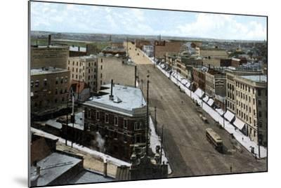 Looking North Along Main Street, Winnipeg. Manitoba, Canada, C1900s--Mounted Giclee Print