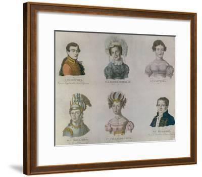 The Actors of Pushkin's Time, 1820S--Framed Giclee Print