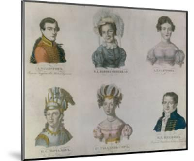 The Actors of Pushkin's Time, 1820S--Mounted Giclee Print