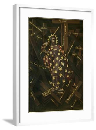 El Cristo De Las Cruces, Early 18th C-Francisco Moyen-Framed Giclee Print