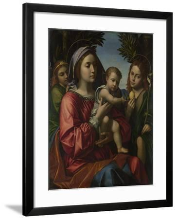 The Virgin and Child with the Baptist and an Angel, C. 1516-Paolo Morando-Framed Giclee Print