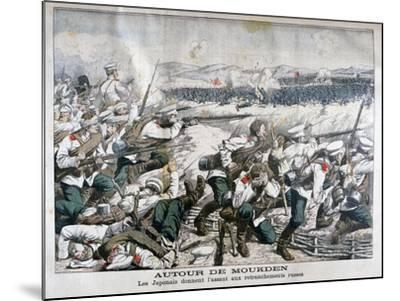 Japanese Troops Attacking Russian Trenches, Mukden, Manchuria, October 1904--Mounted Giclee Print