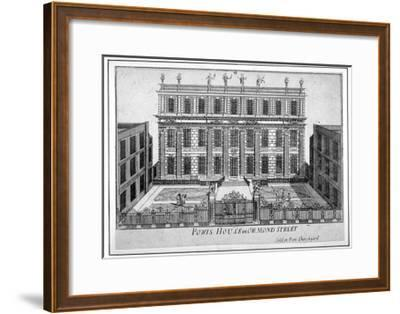 View of Powis House, Great Ormond Street, Bloomsbury, London, C1720--Framed Giclee Print