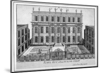 View of Powis House, Great Ormond Street, Bloomsbury, London, C1720--Mounted Giclee Print