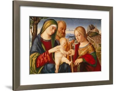 The Mystical Marriage of Saint Catherine-Francesco di Bernardo de Vecchi Santacroce-Framed Giclee Print