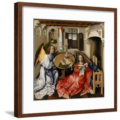 The Annunciation (Mérode Altarpiec), Ca 1428-1432-Robert Campin-Framed Giclee Print