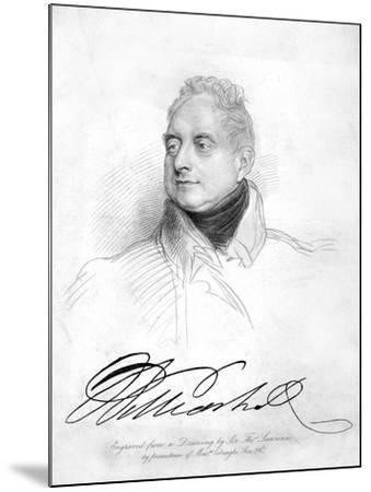 William IV of the United Kingdom, 19th Century-Thomas Lawrence-Mounted Giclee Print