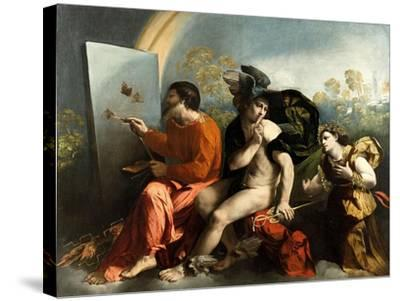 Jupiter, Mercury and the Virtue (Jupiter Painting Butterflie)-Dosso Dossi-Stretched Canvas Print