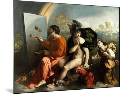 Jupiter, Mercury and the Virtue (Jupiter Painting Butterflie)-Dosso Dossi-Mounted Giclee Print