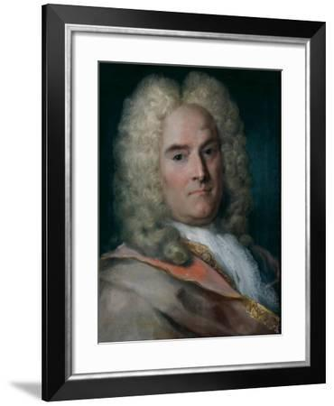 A Gentleman in a Gray Cape over a Gold-Embroidered Coat-Rosalba Giovanna Carriera-Framed Giclee Print