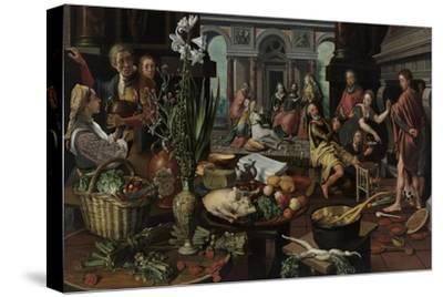 Christ in the House of Martha and Mary, 1553-Pieter Aertsen-Stretched Canvas Print
