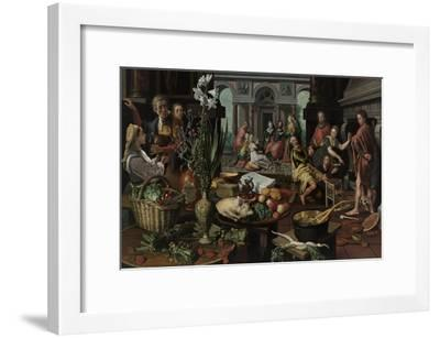 Christ in the House of Martha and Mary, 1553-Pieter Aertsen-Framed Giclee Print