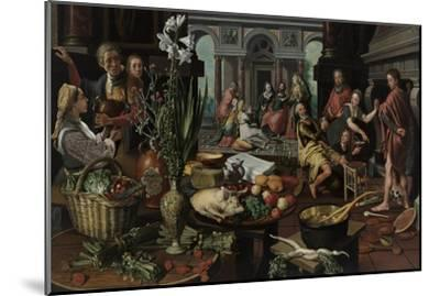 Christ in the House of Martha and Mary, 1553-Pieter Aertsen-Mounted Giclee Print