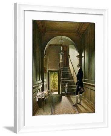 The Staircase of the London Residence of the Painter, 1828-Pieter Christoffel Wonder-Framed Giclee Print