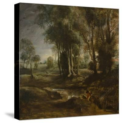 Evening Landscape with Timber Wagon, 1630-1640-Peter Paul Rubens-Stretched Canvas Print