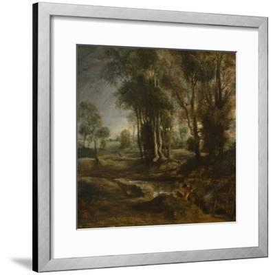 Evening Landscape with Timber Wagon, 1630-1640-Peter Paul Rubens-Framed Giclee Print