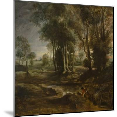 Evening Landscape with Timber Wagon, 1630-1640-Peter Paul Rubens-Mounted Giclee Print