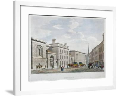 Newgate Prison, Old Bailey, City of London, 1799--Framed Giclee Print