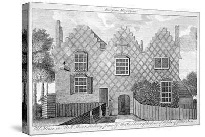 View of a House in Wells Street, Hackney, London, C1800--Stretched Canvas Print