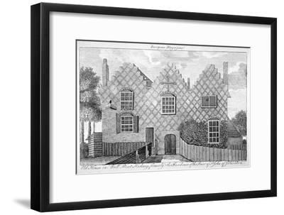 View of a House in Wells Street, Hackney, London, C1800--Framed Giclee Print