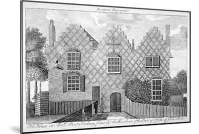 View of a House in Wells Street, Hackney, London, C1800--Mounted Giclee Print