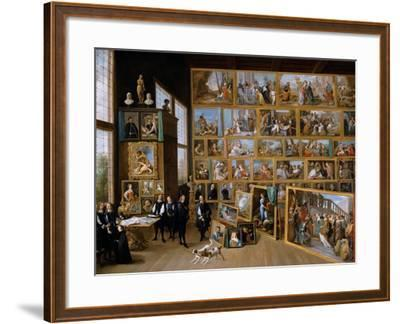 Archduke Leopold Wilhelm in His Gallery in Brussels, Ca 1651-David Teniers the Younger-Framed Giclee Print