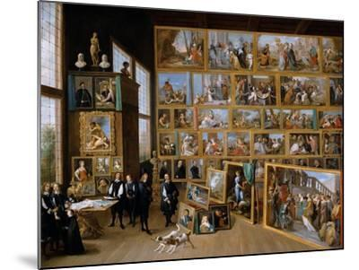 Archduke Leopold Wilhelm in His Gallery in Brussels, Ca 1651-David Teniers the Younger-Mounted Giclee Print